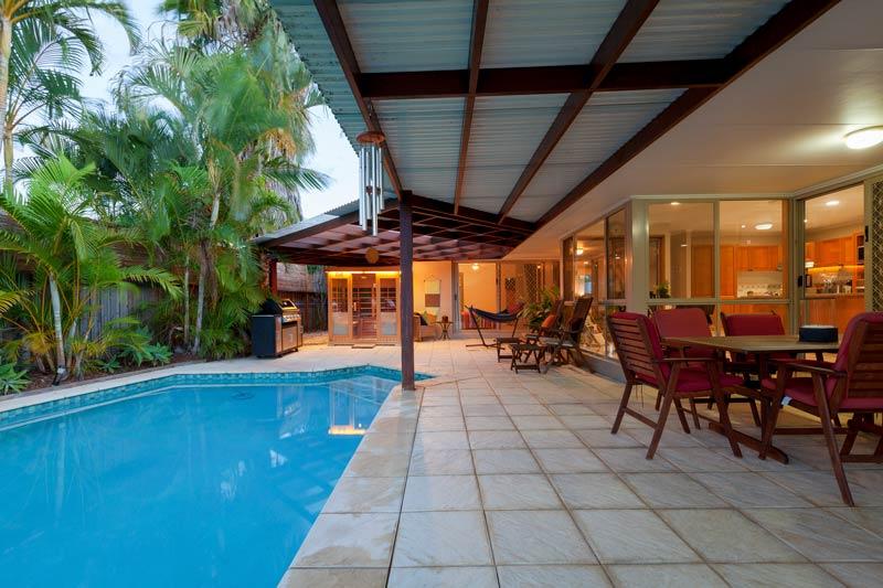 skillion patio by pool