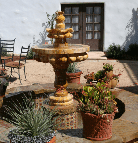 Patio with a Water Feature