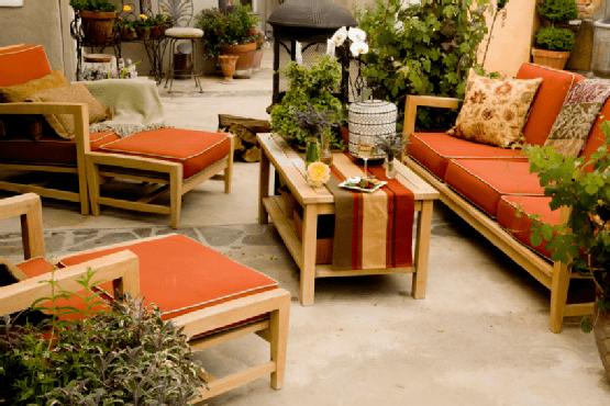 Create a comfortable outdoor area